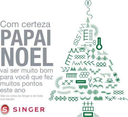 cartão de natal da Singer