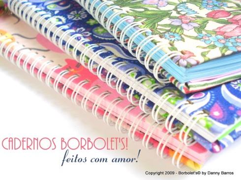 cadernos artesanais borbolets
